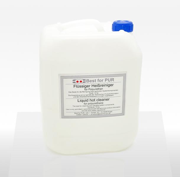 Flüssiger Heißreiniger für PUR Klebstoff